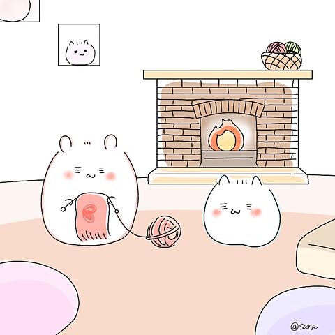 ハルよ恋   暖炉冬ポエム素材の画像(プリ画像)
