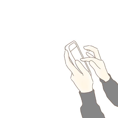 スマホライン手指ポエム素材の画像(プリ画像)