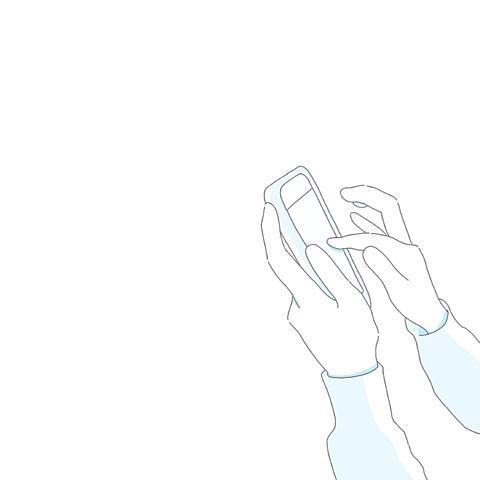 ポエム素材スマホ赤水色青の画像(プリ画像)