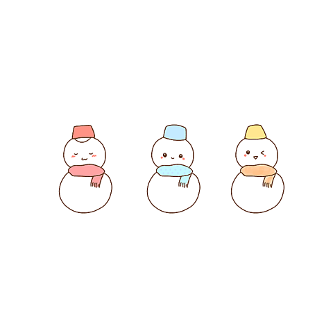 ゆきだるまポエム素材冬雪の画像(プリ画像)