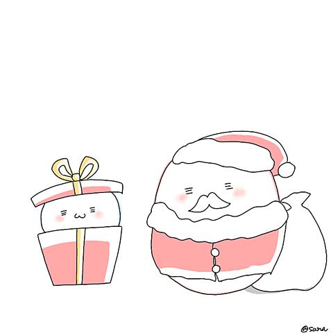 サンタクロースクリスマスプレゼントポエム素材の画像(プリ画像)