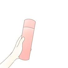 ポエム素材水筒手 プリ画像