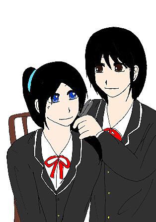 女子高校生の断髪式〜女子高校生のセルフカットその後黒髪編〜の画像 プリ画像