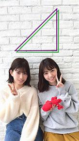 乃木坂46 欅坂46 西野七瀬 渡邉理佐 待ち受けサイズ 壁紙1の画像(