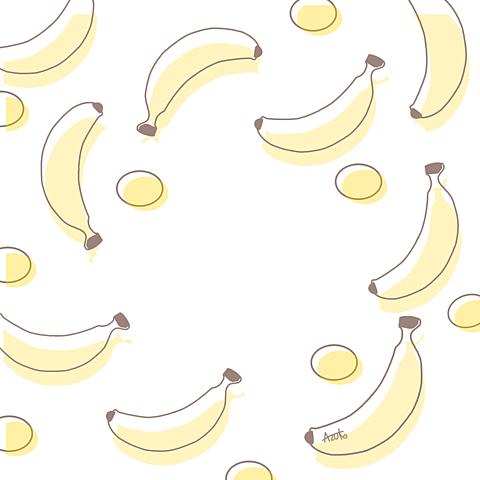 バナナ イラスト¨̮ (( 保存する前に詳細の画像 プリ画像
