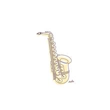 サックス イラスト¨̮ (( 保存する前にプロフの画像(吹奏楽に関連した画像)