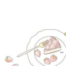 イチゴ イラスト¨̮ (( 保存する前に詳細の画像(大好き恋愛に関連した画像)