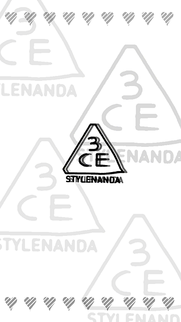 3CE ロック画面 ¨̮ (( 保存する前に詳細の画像(プリ画像)