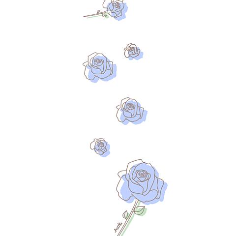 バラ イラスト¨̮ (( 保存する前に詳細の画像(プリ画像)