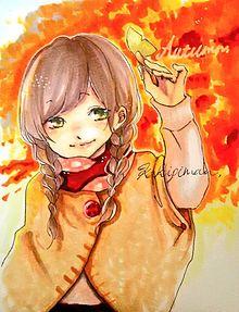 Autumn girl。 プリ画像