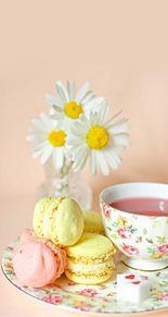 紅茶とマカロンの画像(#紅茶に関連した画像)