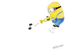 Minion&Trumpetの画像(プリ画像)