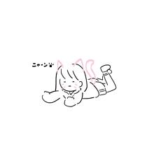無気力ちゃん ฅ^._.^ プリ画像