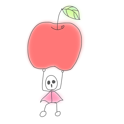 りんご重いの画像 プリ画像