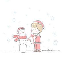 マシュマロのクリスマス プリ画像