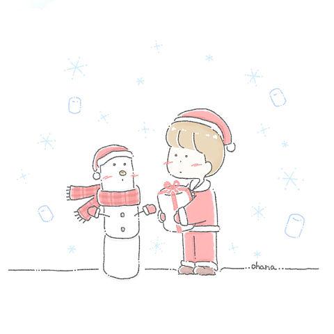 マシュマロのクリスマスの画像(プリ画像)