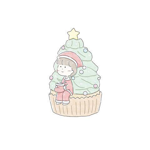 クリスマスツリーのカップケーキの画像 プリ画像