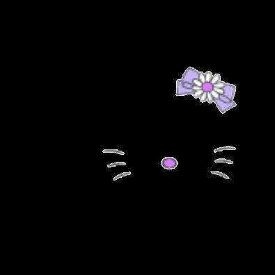 キティ 紫 背景透過の画像(プリ画像)