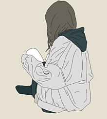 女の子 線画の画像(線画イラストに関連した画像)