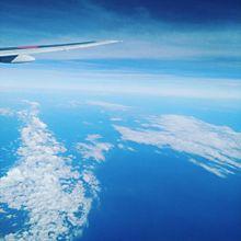 雲の上からの画像(綺麗な空に関連した画像)