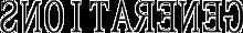 GENERATIONS タトゥーシール用 ロゴ 反転 背景透過の画像(プリ画像)