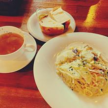 カフェの画像(パスタに関連した画像)
