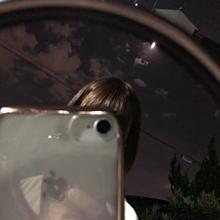 鏡越し プリ画像