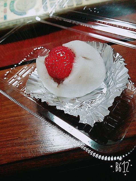 美味しい美味しいいちご大福(日記)タグ失礼します💦の画像(プリ画像)