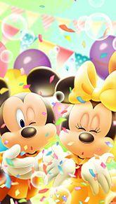 ミッキーとミニー プリ画像