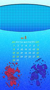 iPhone ロック画面 カレンダー 2019年9月の画像(iphone ディズニーに関連した画像)