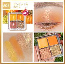 オレンジメイクの画像(アイメイクに関連した画像)
