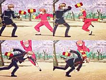 沖田総悟 vs 神楽の画像(プリ画像)