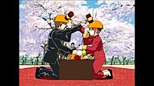 沖田総悟 × 神楽  お花見の画像(プリ画像)