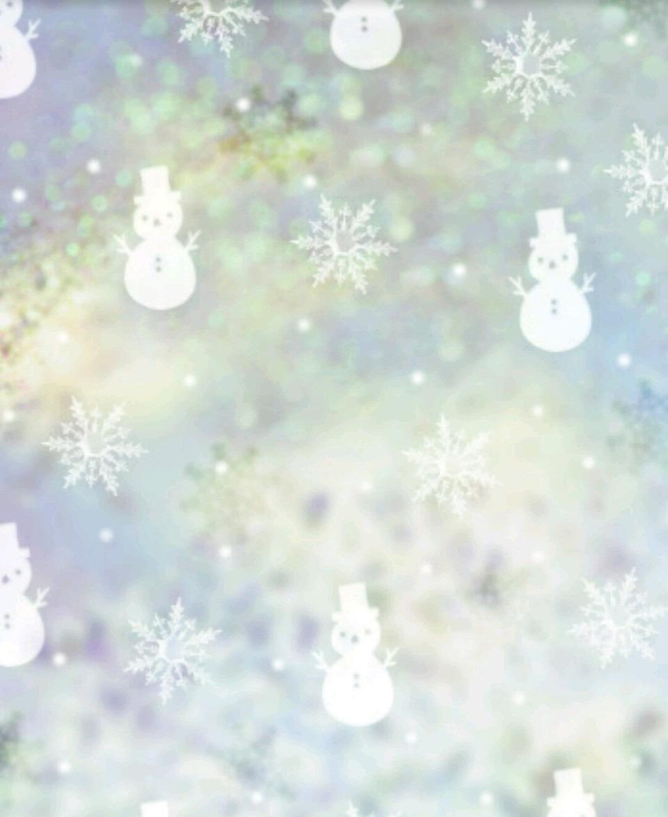 冬 雪 雪だるま かわいい 待ち受け 壁紙 キラキラ イラスト