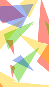 カラフルな三角形の画像(三角形に関連した画像)
