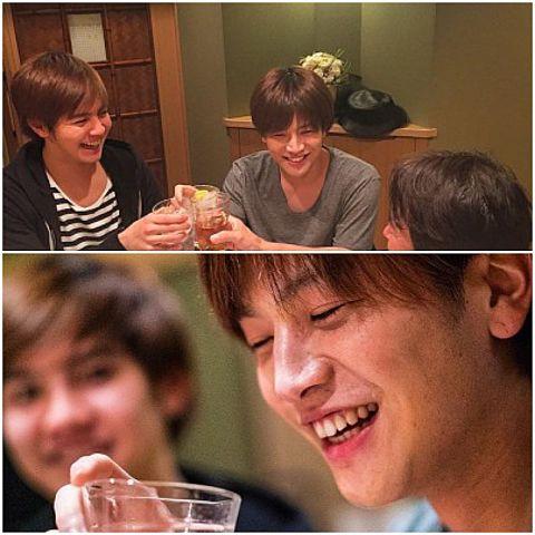 片寄涼太(GENE)❌岩田剛典(三代目)❣️飲み会🍻の画像 プリ画像