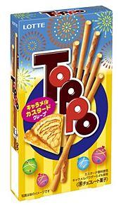 夏季限定商品!Toppo!(キャラメルカスタードクレープ味!)の画像(夏季限定に関連した画像)
