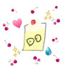 手作り画 ソーダ ゾンビの目玉だんご入りの画像(ゾンビに関連した画像)