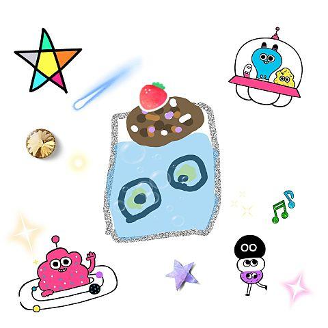 手作り画 ソーダ ゾンビの目玉だんご入りの画像(プリ画像)