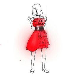 真っ赤なドレス♡の画像(プリ画像)