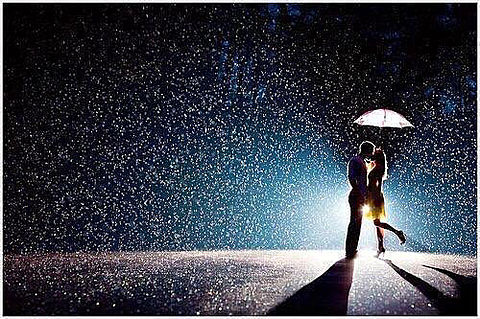 雨の中2人の画像(プリ画像)