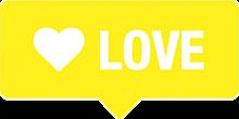 LOVE 吹き出しの画像(プリ画像)