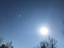 月と太陽の画像(空に関連した画像)