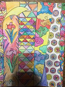 かずら、花紋、カキツバタ、菊、割付文様の画像(文様に関連した画像)