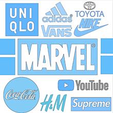 パステル ロゴ集め ブランド コカ・コーラ VANS MARVEの画像(VANSに関連した画像)