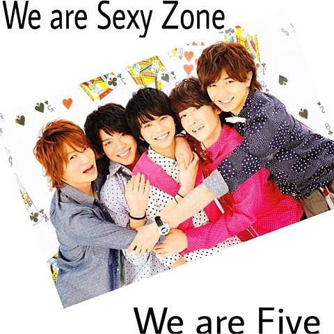 sexyzoneは5人で1つの画像(プリ画像)