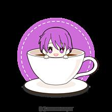 なーくんのコーヒーカップの画像(紫色に関連した画像)