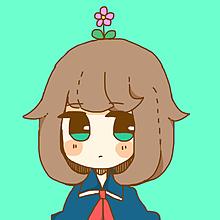 あたまからお花はえちゃった女の子の画像(プリ画像)