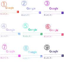 Google文字入れ 例1の画像(Googleに関連した画像)
