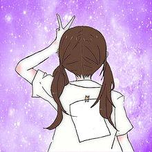 ペア画♡紫の画像(ペア画 宇宙柄に関連した画像)